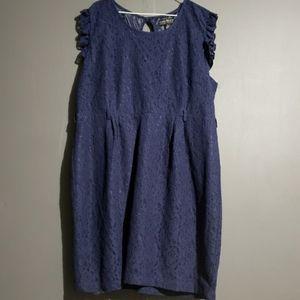 Forever 21 plus size blue lace dress 3x